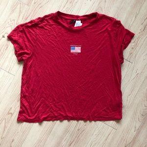 Brooklyn NYC American Flag Tshirt